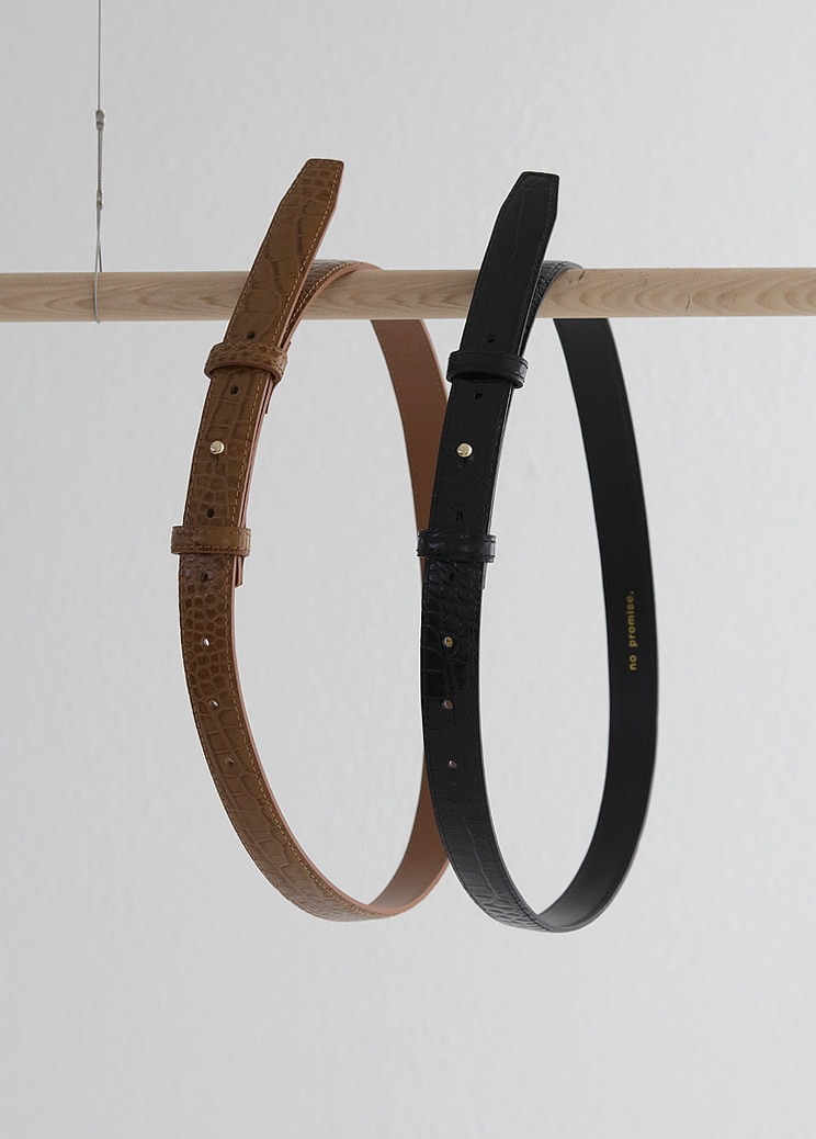 19FW All croc belt