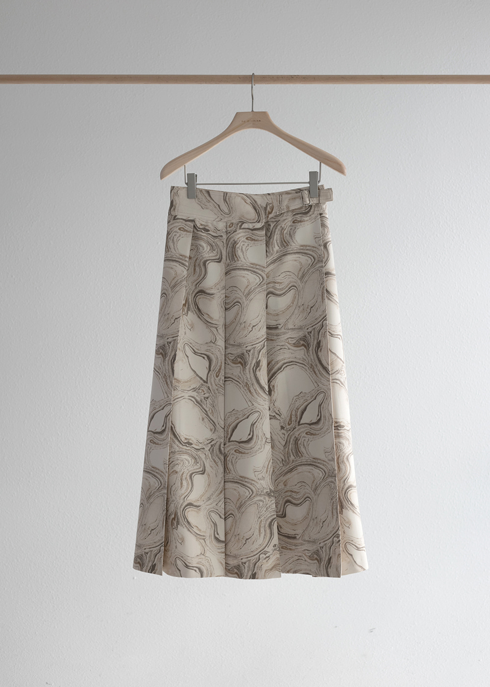 19FW Marble pleated skirt