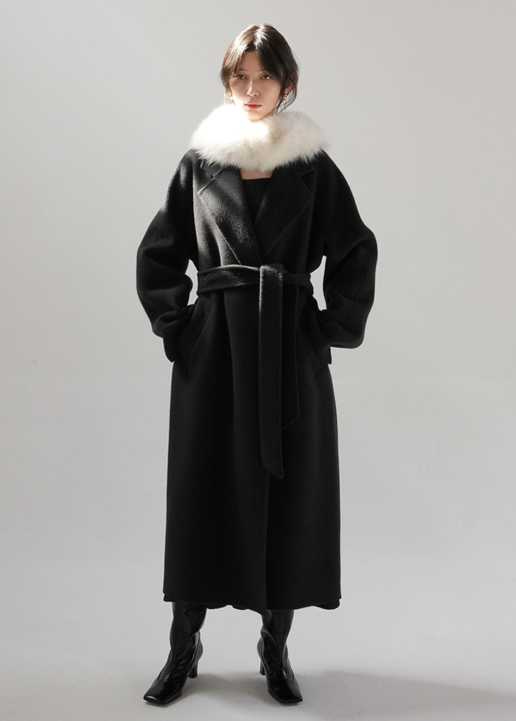 20FW Page long coat - charcoal (hand made)