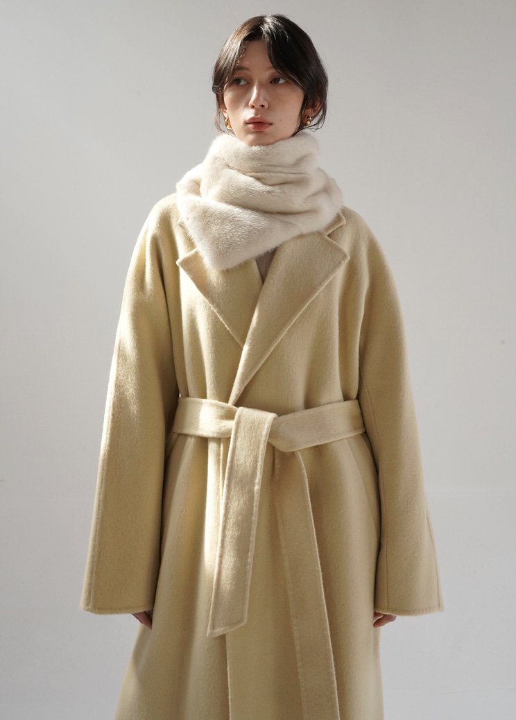 20FW Page long coat - beige (hand made)